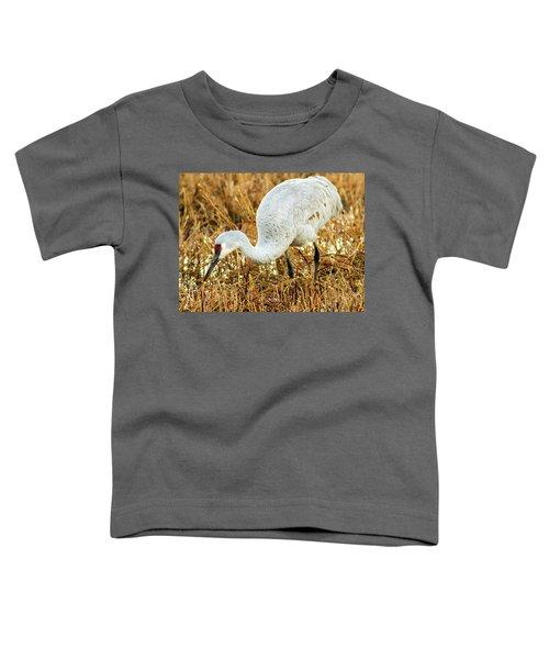 Munching Sandhill Crane Toddler T-Shirt