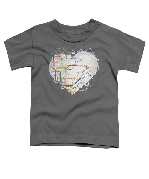 New York City Subway Map Toddler T-Shirt