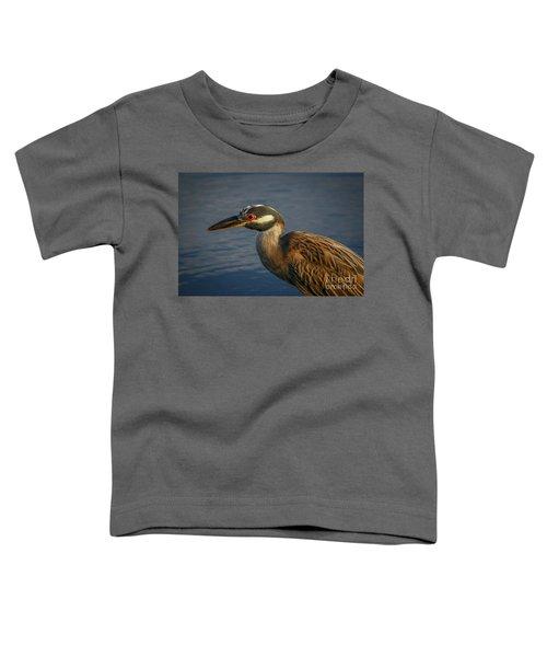 Night Heron Portrait Toddler T-Shirt