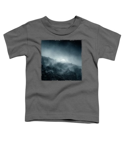 Night Shadows - Misty Forest At Night Toddler T-Shirt