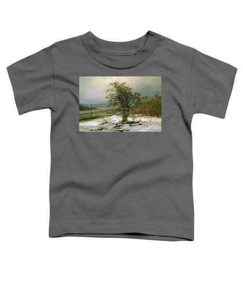 Oak Tree By The Elbe In Winter - Digital Remastered Edition Toddler T-Shirt
