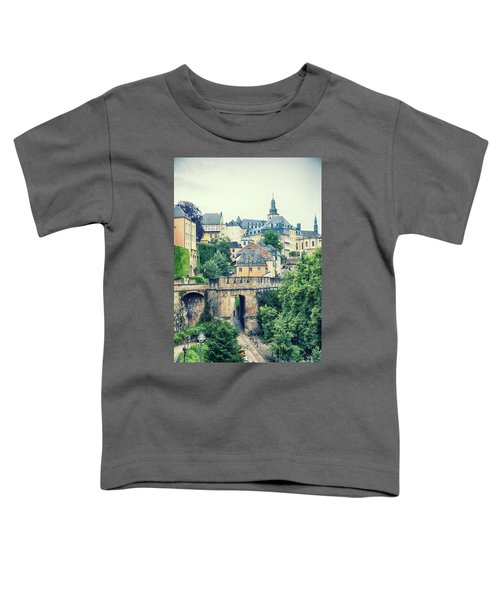 old city Luxembourg from above Toddler T-Shirt
