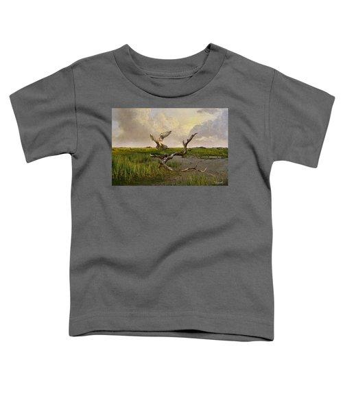 Old World Kestrel At Dawn Toddler T-Shirt