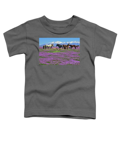 Toddler T-Shirt featuring the photograph Onaqui Spring by Greg Norrell