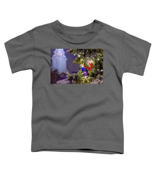 Ornament, Market Square Christmas Tree Toddler T-Shirt