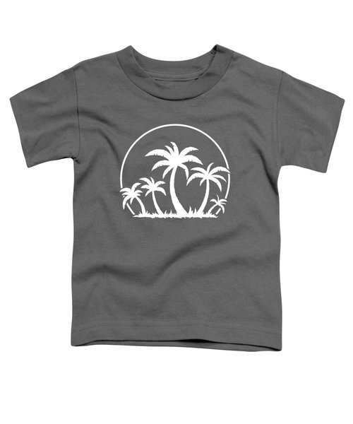 Palm Trees And Sunset In White Toddler T-Shirt