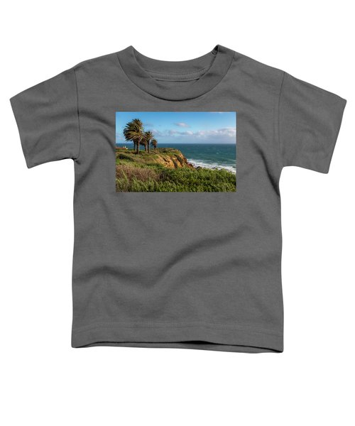 Palm Trees Blowing In The Wind Toddler T-Shirt