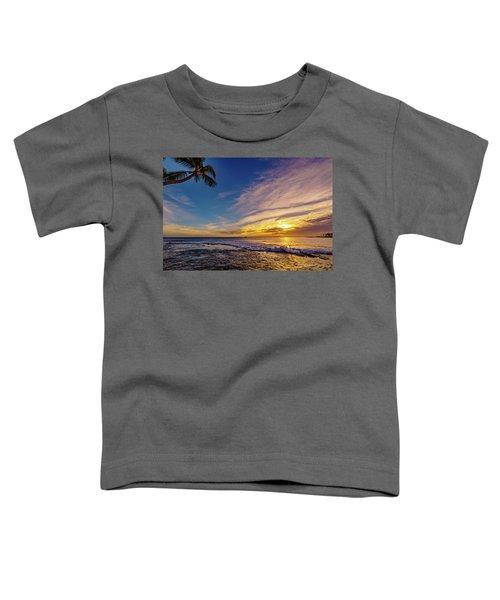 Palm Wave Sunset Toddler T-Shirt