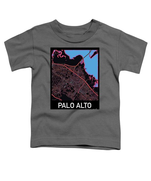 Palo Alto City Map Toddler T-Shirt