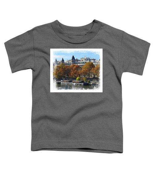 Paris Houseboat Toddler T-Shirt