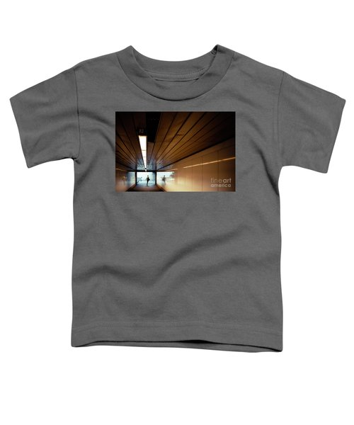 Passengers In A Hurry At The End Of A Tunnel At The Entrance To The Metro Station. Toddler T-Shirt