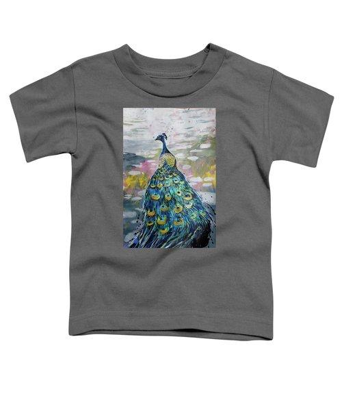 Peacock In Dappled Light Toddler T-Shirt