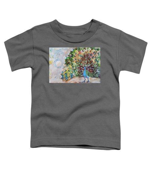 Peacock In Morning Mist Toddler T-Shirt