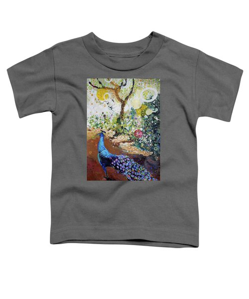 Peacock On Path Toddler T-Shirt