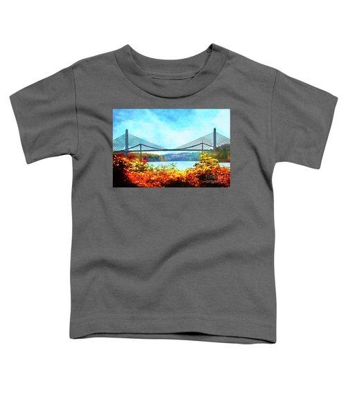 Penobscot Narrows Bridge In Autumn Toddler T-Shirt