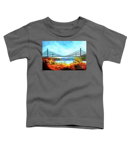 Penobscot Narrows Bridge In Autumn Toddler T-Shirt