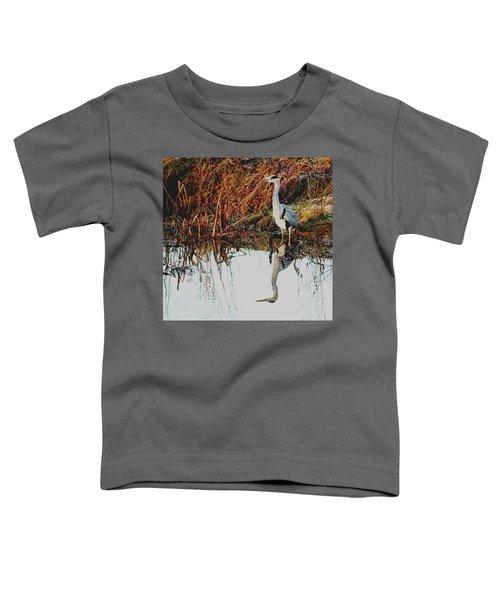 Pensive Heron Toddler T-Shirt