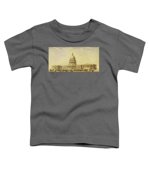 Perspective Rendering Of United States Capitol Toddler T-Shirt