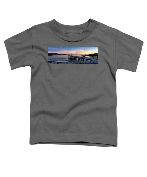 Pier And Sailboat At Sunset Toddler T-Shirt