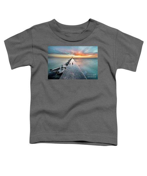 Pier Sunset In Frankfort Toddler T-Shirt