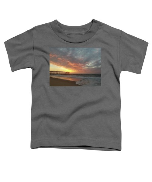 Pink Rippling Clouds At Sunrise Toddler T-Shirt