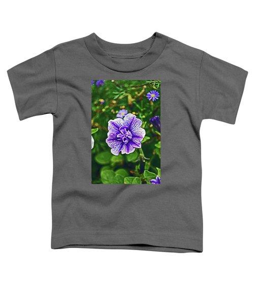 Pitlochry.  Purple Petunia. Toddler T-Shirt