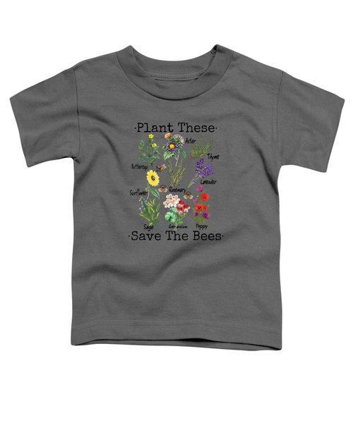 Plant These Save The Bees Shirt Women Yellow Flowers Toddler T-Shirt