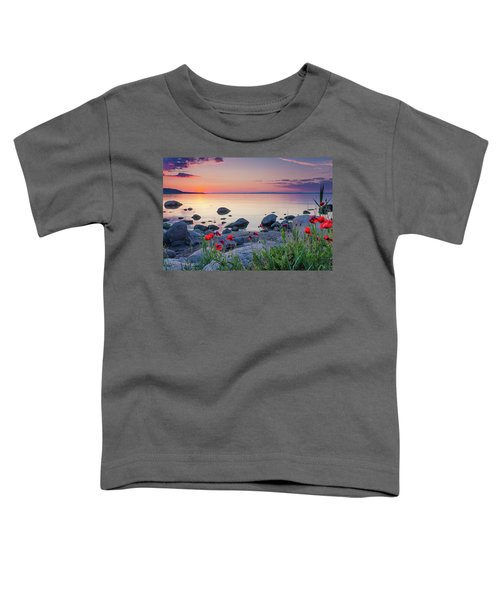 Poppies By The Sea Toddler T-Shirt