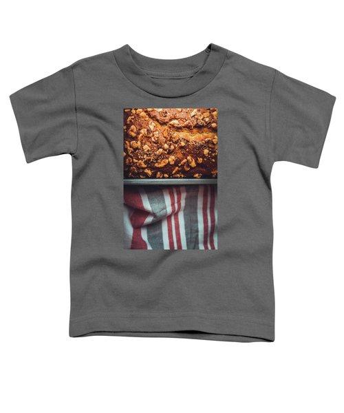 Portion Of Freshly Baked Banana Bread  Toddler T-Shirt