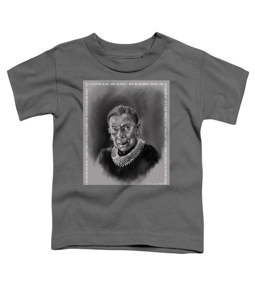 Portrait Of Ruth Bader Ginsburg Toddler T-Shirt