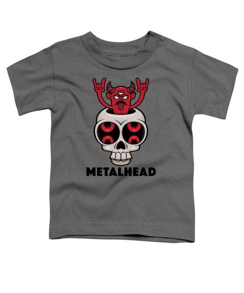 Possessed Skull Metalhead Toddler T-Shirt