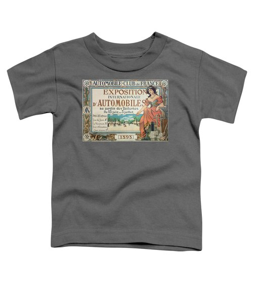 Poster Advertising The Exposition Internationale Automobiles At The Tuileries Gardens 1898 Toddler T-Shirt