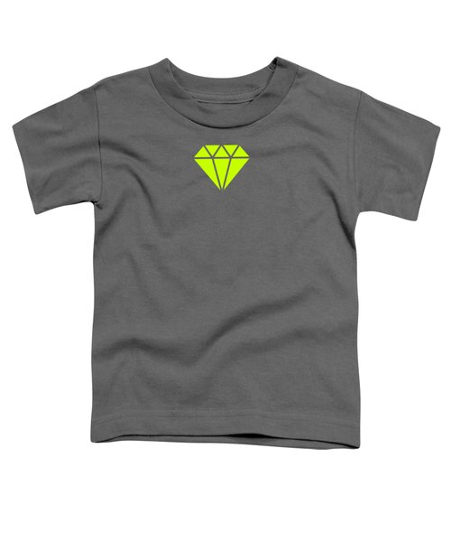 Purple Diamond Yellow Toddler T-Shirt