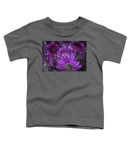 Purple Power Chrysanthem Selective Colorum  Toddler T-Shirt