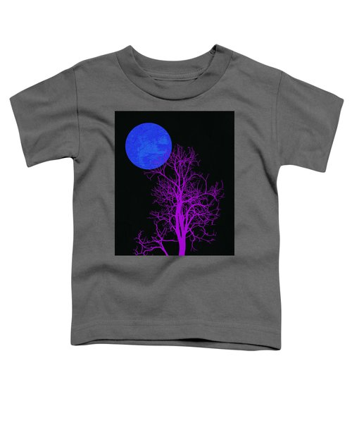Purple Tree And Blue Moon Toddler T-Shirt