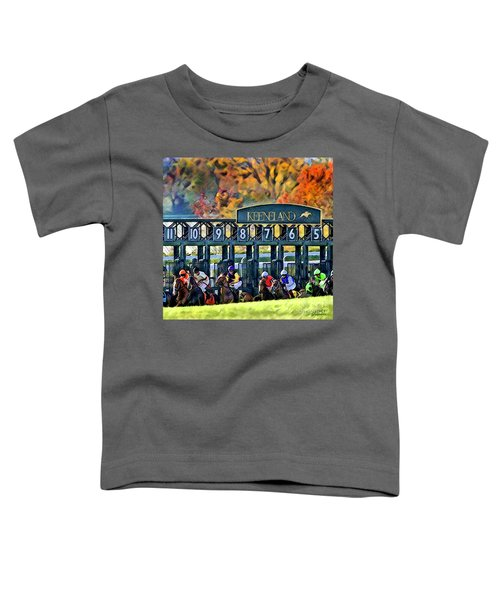 Fall Racing At Keeneland  Toddler T-Shirt