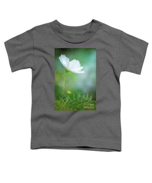 Radiant White Cosmos In The Evening Light Toddler T-Shirt