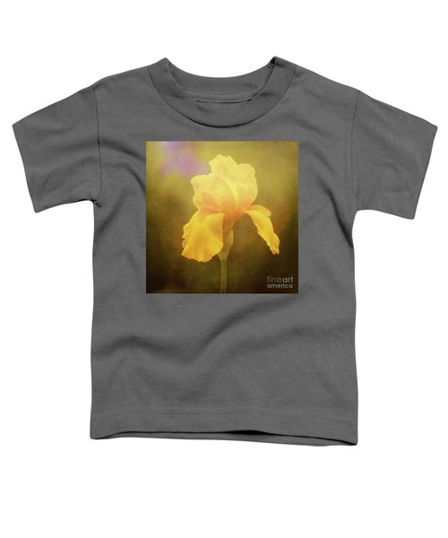 Radiant Yellow Iris With A Vintage Touch Toddler T-Shirt
