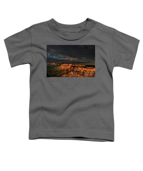 Rainbow And Thunderstorm Over The Paunsaugunt Plateau  Toddler T-Shirt