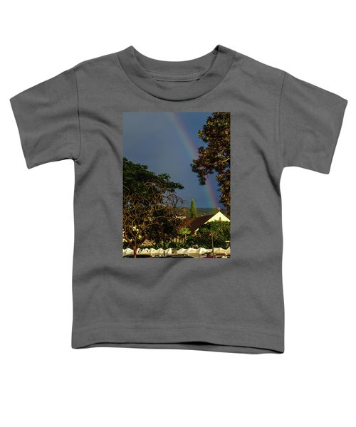Rainbow Ended At The Church Toddler T-Shirt