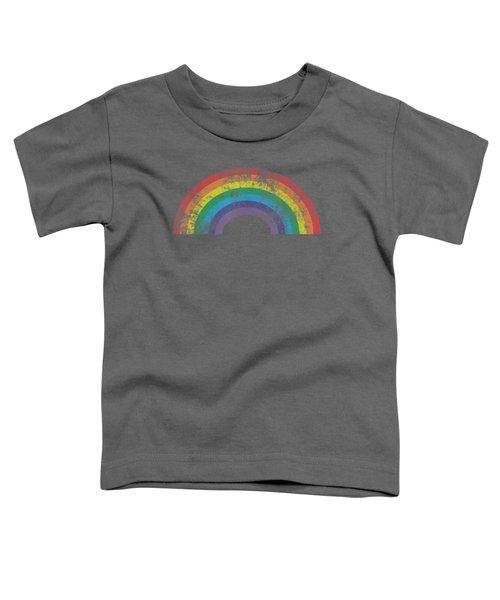 Rainbow Shirt Vintage Retro 80's Style Gay Pride Gift Toddler T-Shirt