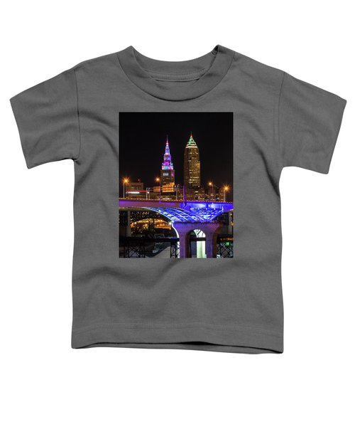 Rainbow Tower In Cleveland Toddler T-Shirt
