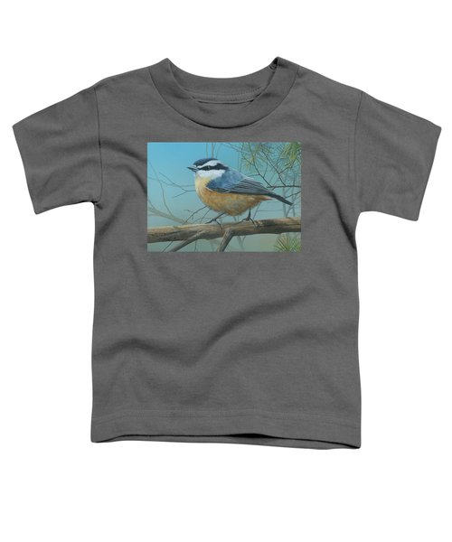 Red Brested Nuthatch Toddler T-Shirt