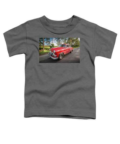 Red Classic Cuban Car Toddler T-Shirt