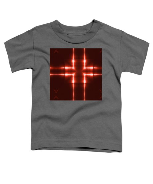 Red Reflecting Metallic Surface. Technological  Background.  Toddler T-Shirt
