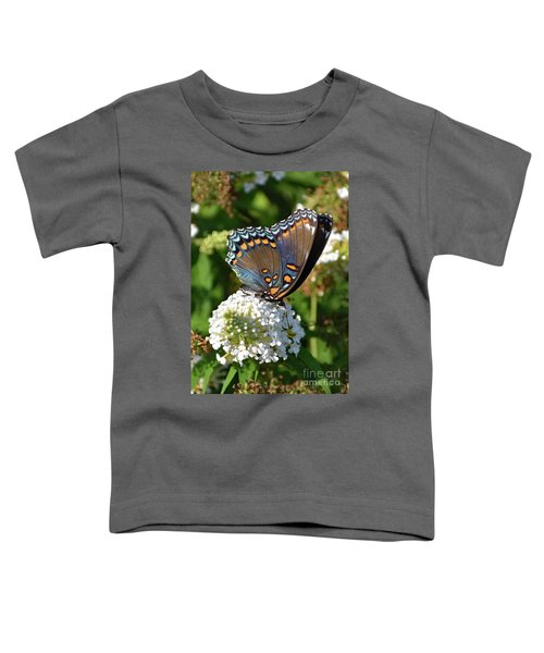 Red-spotted Purple On White Butterfly Bush Toddler T-Shirt