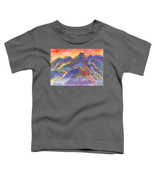 Red Sunset In The Mountains Toddler T-Shirt