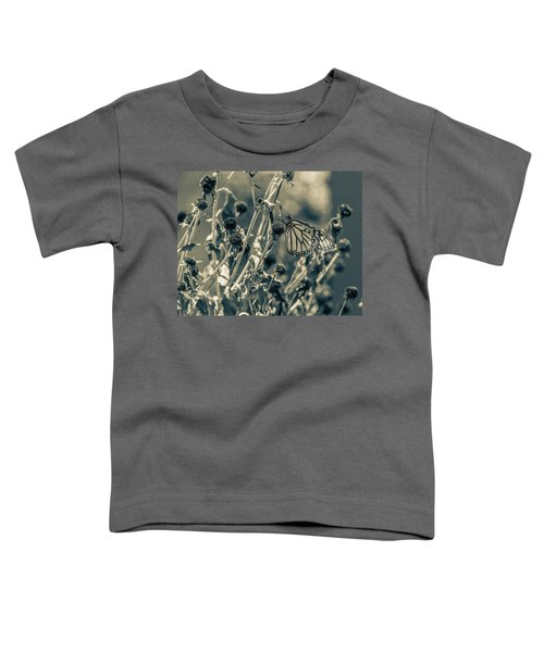 Resting Butterfly Bw Toddler T-Shirt