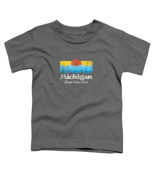 Retro Michigan Great Lakes State T-shirt Toddler T-Shirt