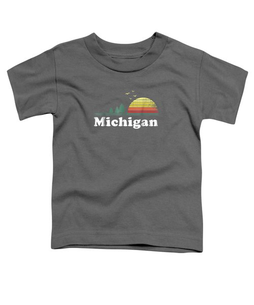 Retro Michigan Image Novelty Home Mi State Souvenir T Shirt Toddler T-Shirt